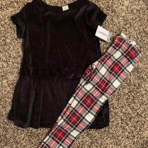NWT Carters Holiday Outfit sz5